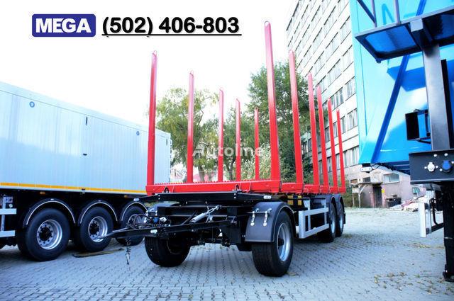 MEGA Leśna/Papierówka - 6 x kłonic z reg. wys Holztransporter Anhänger