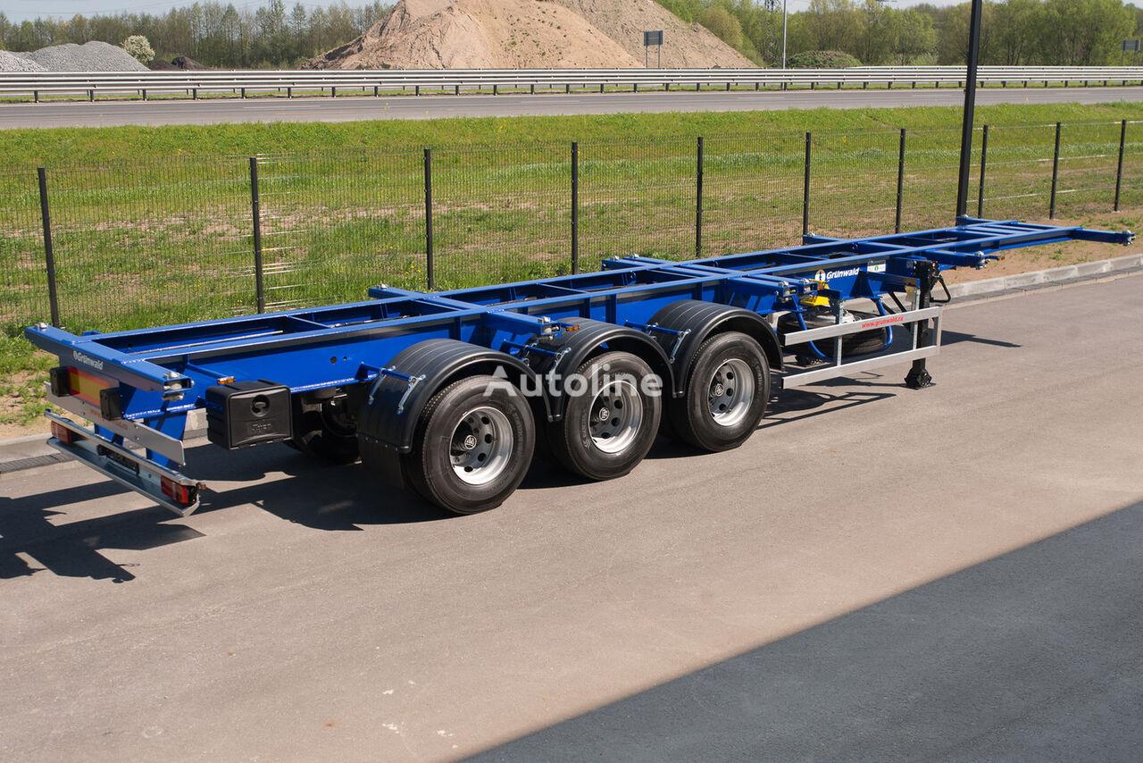 neues GRUNWALD Versatile heavy duty container semitrailer Containerauflieger