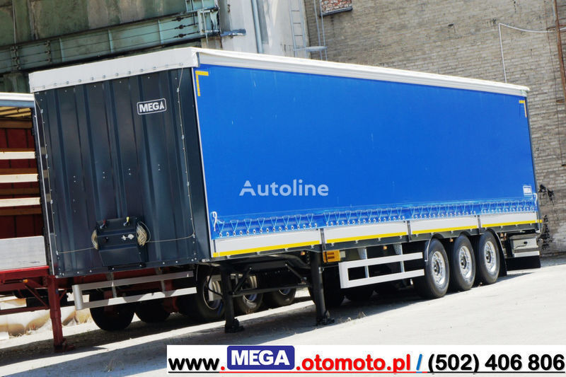 neuer MEGA 3 AXEL CURTAINSIDER / ALUSIDES H=600 MM/ READY !  Planenauflieger