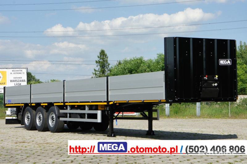 neue MEGA MNS 22,5 - PLATFORM & ALUSIDES 800 MM /  STRONG  FRAME DOMEX650 Pritschenauflieger