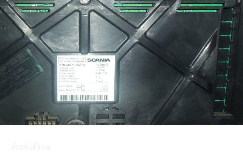 Scania R series instrument panel, instrument cluster, dashboard, 1725842 instrument cluster, 1507322, 1545985, 1545989, 1545993, 1763551, 1765222, 1849503, 1852891 Armaturenbrett für SCANIA R Sattelzugmaschine