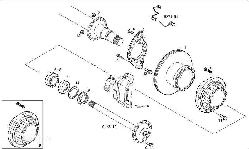 neuer 2995812 2996328 7185503 7189476 Bremsscheiben für IVECO STRALIS LKW