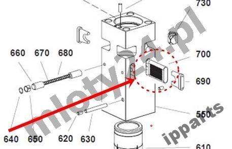 Ersatzteile für MONTABERT 1200 klin zabezpieczenie grot nie Ramer Andere Baumaschinen