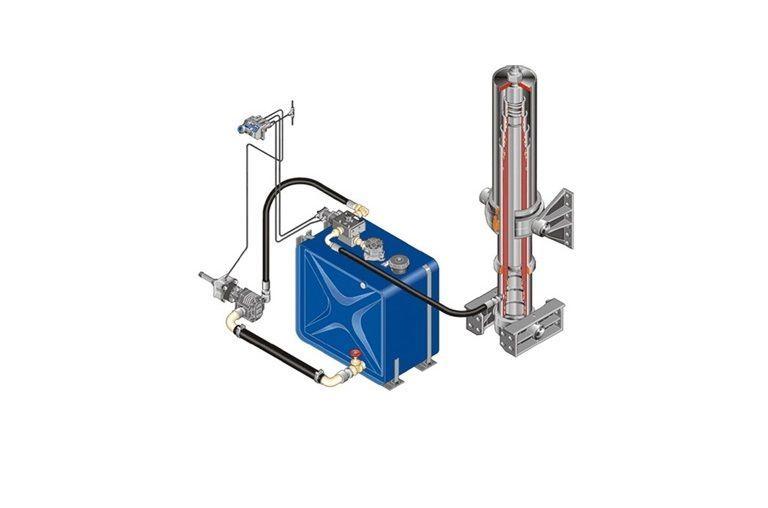 neuer Komplekt gidravliki ITALIYa/AVSTRIYa/na MAN/DAF/IVECO/RENAULT Hydrauliktank für Sattelzugmaschine
