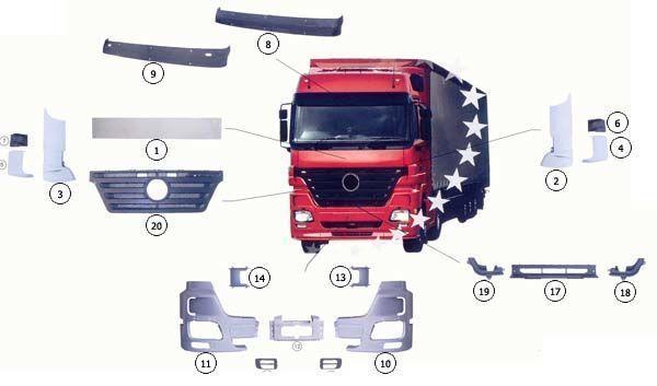 neuer MERCEDES 9437500009 Motorhaube für MERCEDES-BENZ ACTROS MP2 LKW