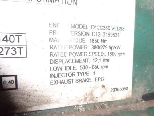 VOLVO D12C 380 HP engine computer EDC 20365050 ECU, 3169631, 3161952, 20412506, 3161962, 20577131, 20582958, 85111405, 85107712, 85103340, 3099133, 8500011, 85000086, 85000388, 85000846, 8113577, 85111405, 8113577, 3099133 Steuereinheit für VOLVO FH12 LKW
