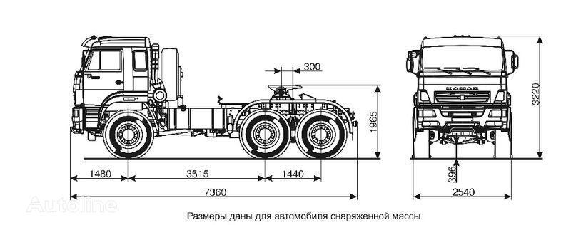KAMAZ 65221  Sattelzugmaschine