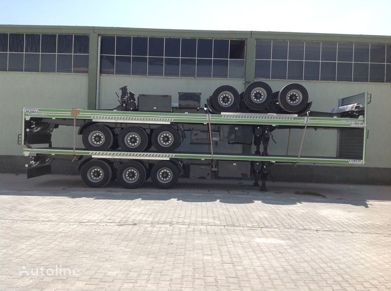 neues LIDER 2018 YEAR NEW 40' 20' 30' container transport trailer manufactur Containerauflieger