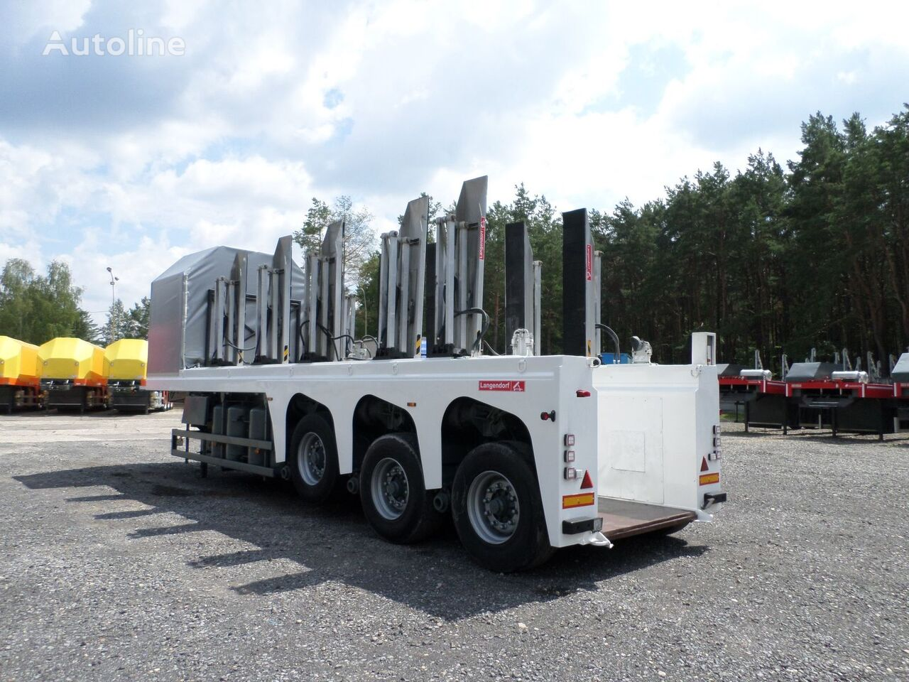 LANGENDORF do przewozu betonu płyt betonowych INLOADER z podłogą Glastransporter Auflieger