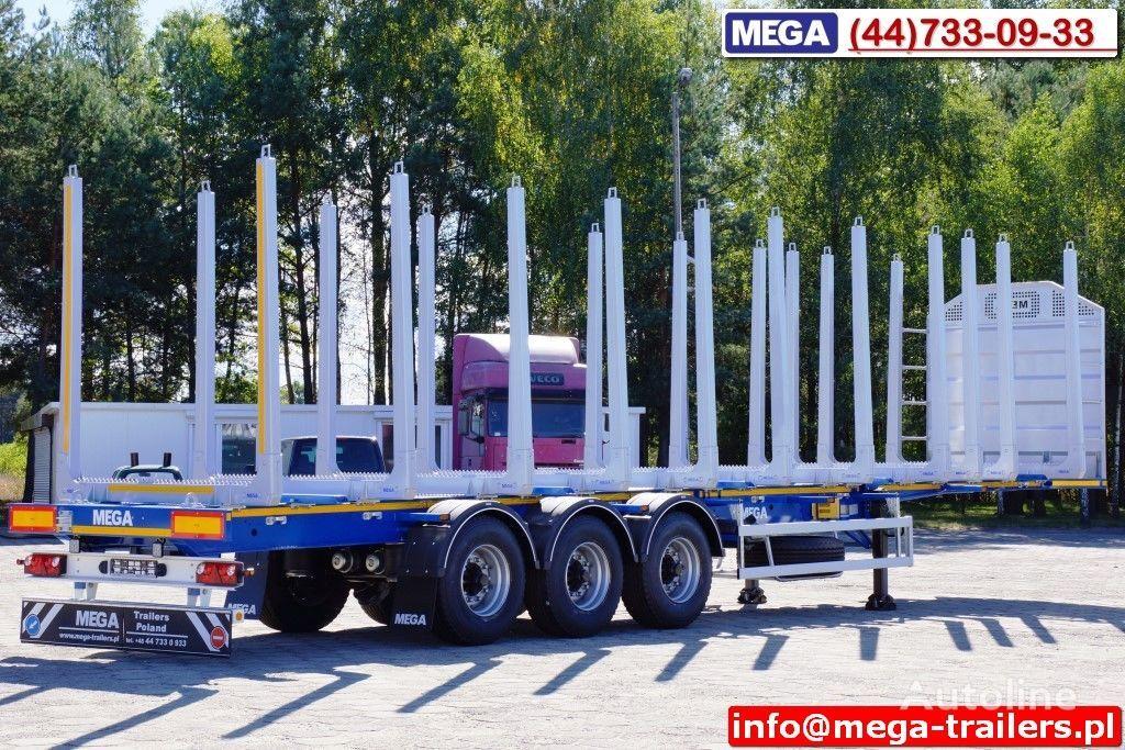 neuer MEGA 10 U STANCHION - TIMBER SEMI-TRAILER/HOLZAUFLIEGER- READY ! BERE Holztransporter Auflieger