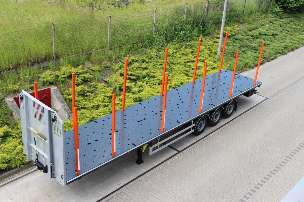 neuer ZASLAW TRAILIS 651.NL.13.PK[without stakes] Holztransporter Auflieger