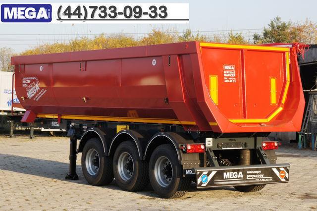 neuer KARGOMIL 25 - 28 m³ HALF-PIPE / steel tipper - DOMEX 5/7 mm / SUPER STRON Kippauflieger