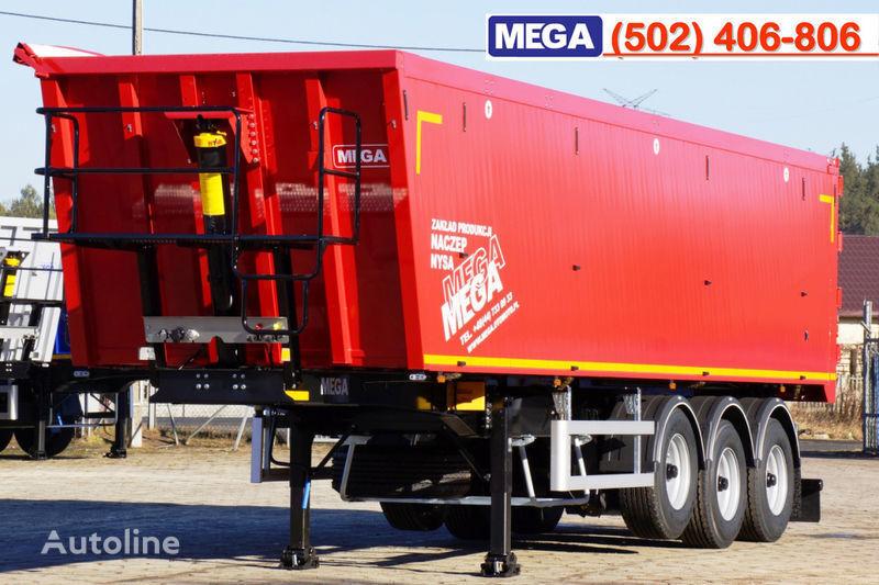 neuer MEGA 45 m³ - alum. tipper SUPER-LIGHT - 5,300 KG & hatch door - READY Kippauflieger