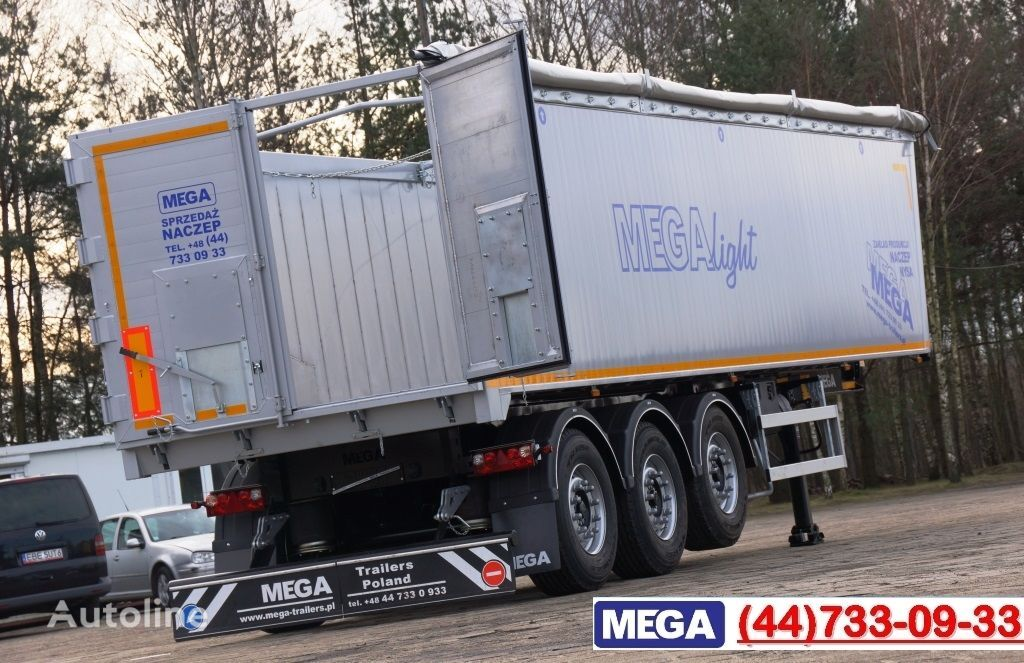 neuer MEGA 45 m³ - alum. tipper SUPER-LIGHT - 5,300 KG & hatch door - READY Kippauflieger