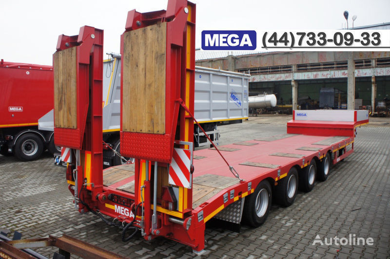 neuer MEGA 4 AXEL FLATBED / HYDRAULIC RAMPS / UP TO 45 T! Tieflader Auflieger