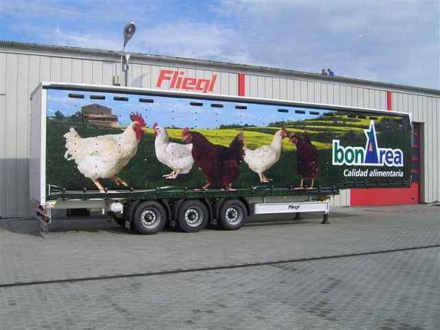 FLIEGL SDS 350 Geflugel Transport von Geflügel Auflieger