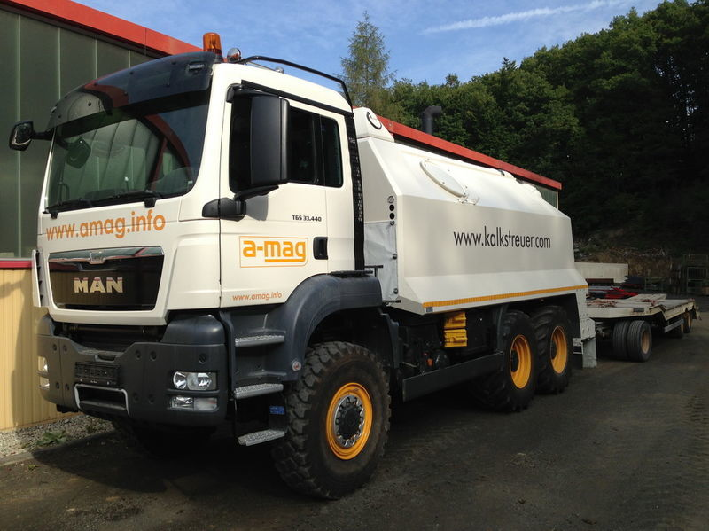 neue MAN TGS spreader 33.440 - 6x6 Recycler