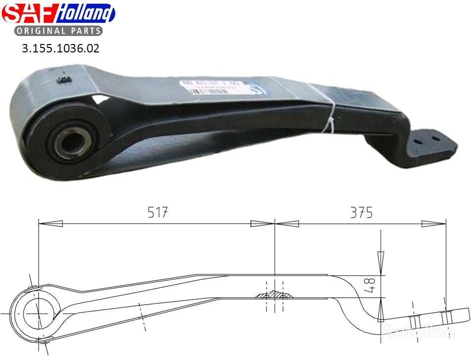neuer SAF 3155103602,3155103601,F188Z035ZA75 Blattfeder für SAF Sattelzugmaschine