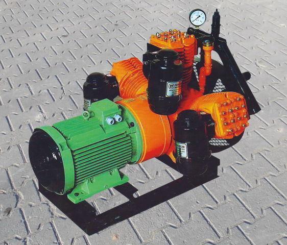 Druckluftkompressor für V3.16 tłokowy z silnikiem elektrycznym Tankauflieger