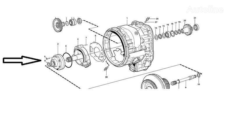neuer Pompa VOE11145264 Getriebe für VOLVO  L180E Radlader