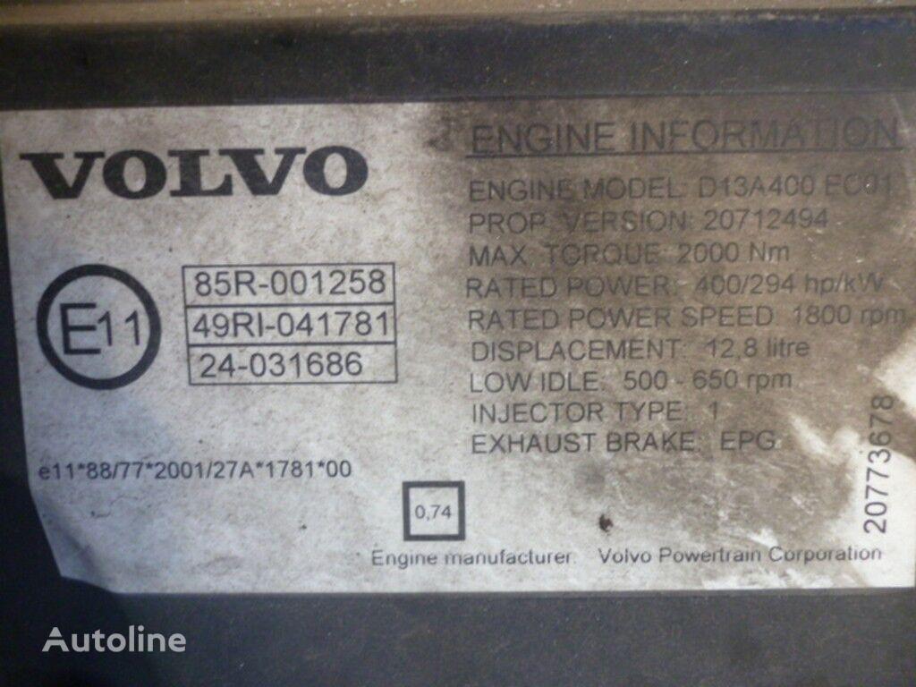 Volvo D13A400 EC01 Motor für VOLVO LKW