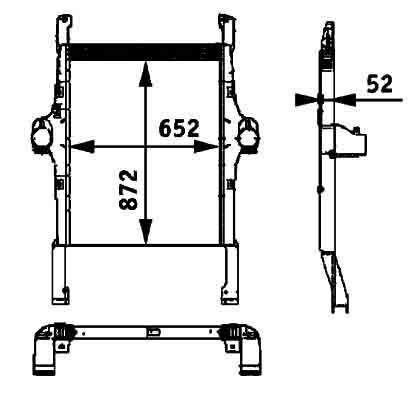 neuer BEHR HELLA IVECO 41214448.8ML 376 724-251 Motorkühler für IVECO STRALIS Sattelzugmaschine