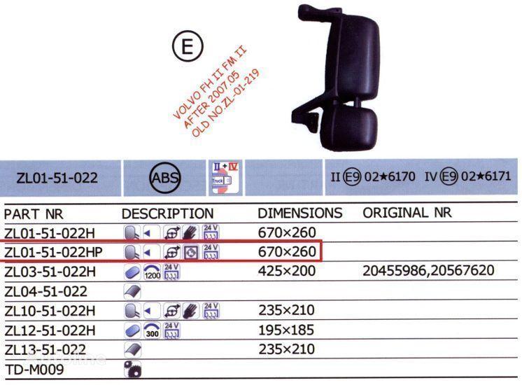 neuer 20567637,20567647 Rückspiegel für VOLVO FH LKW