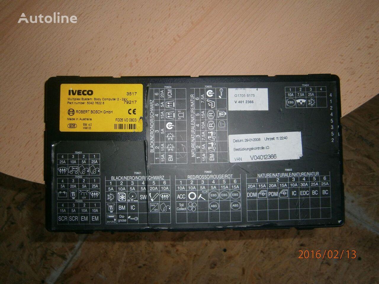 Iveco Stralis EURO5 Multiplex system body computer 504276228 Steuereinheit für IVECO Stralis Sattelzugmaschine
