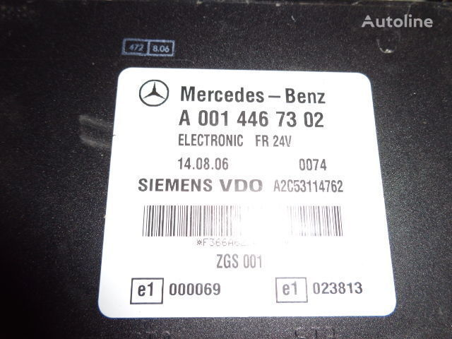 Mercedes Benz Actros MP2, MP3, MP4, FR control unit ECU 0014467302, 0014467302, 0004467502, 0014461002, 0014467402, 0004467602, 0004469602, 0014461302, 0014461402, 0014462602, 0014467002, 0014461902, 0014464102, 0014464002, 0024460102, 0014465402, 0024460 Steuereinheit für MERCEDES-BENZ Actros Sattelzugmaschine