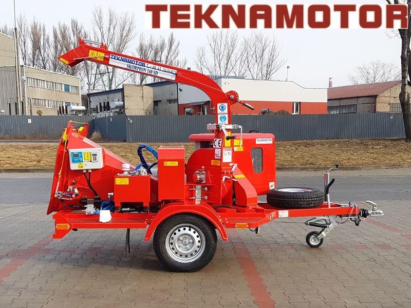 neuer TEKNAMOTOR Skorpion 160SD Holzhäcksler