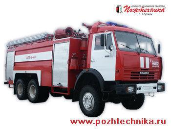 KAMAZ APT-9-40 Avtomobil pennogo tusheniya pozharnyy     Feuerwehrauto
