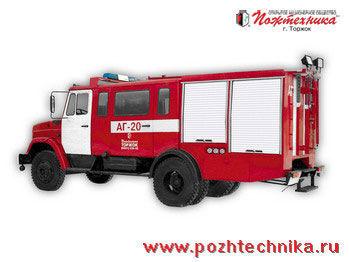 ZIL  AG-20 Avtomobil gazodymozashchitnoy sluzhby Tanklöschfahrzeug