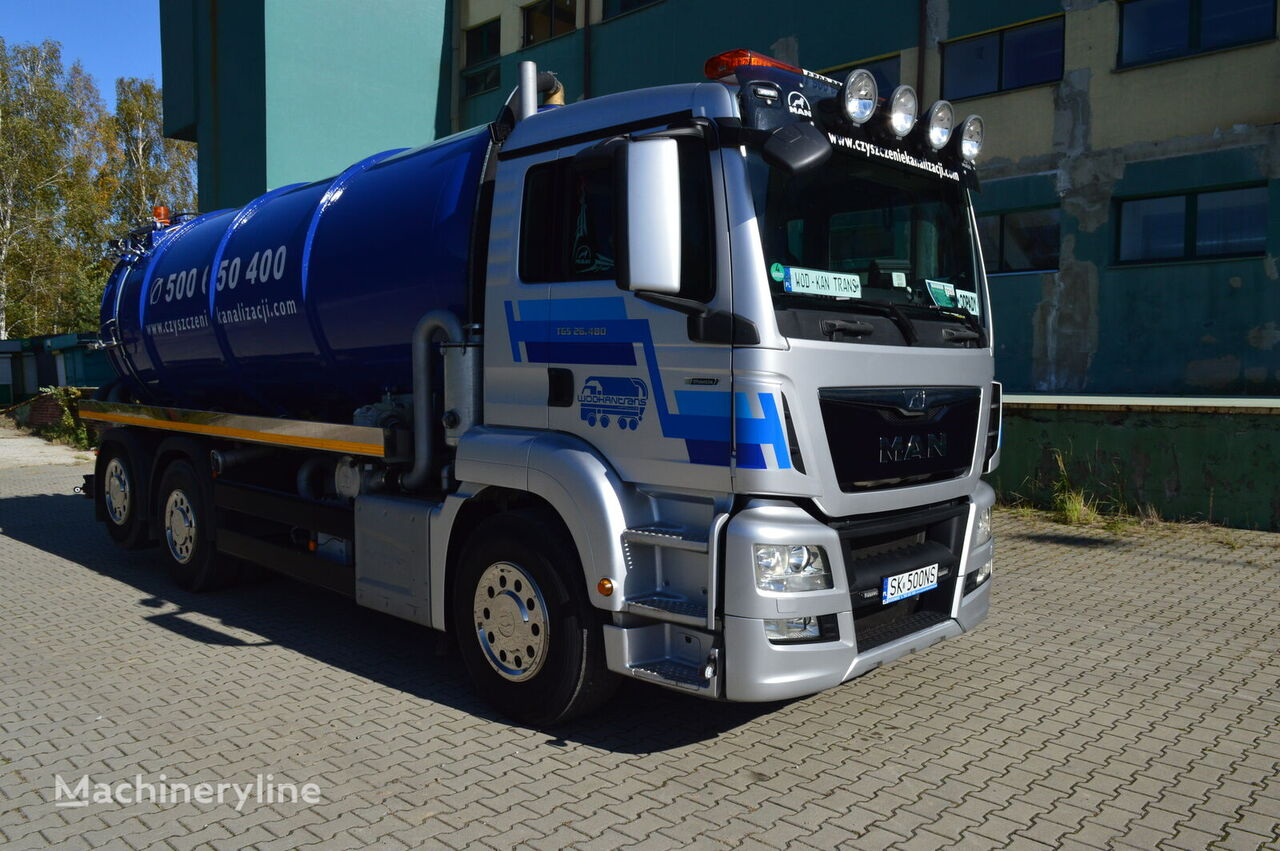 MAN TGS 26.480 6x2 EURO 6 18m3 lenkachse neu aufbau Saugwagen