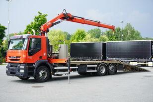 IVECO Stralis 360, EEV, 6x2, 7.8m tow truck, lift axle , CRANE HIAB ma Abschleppwagen