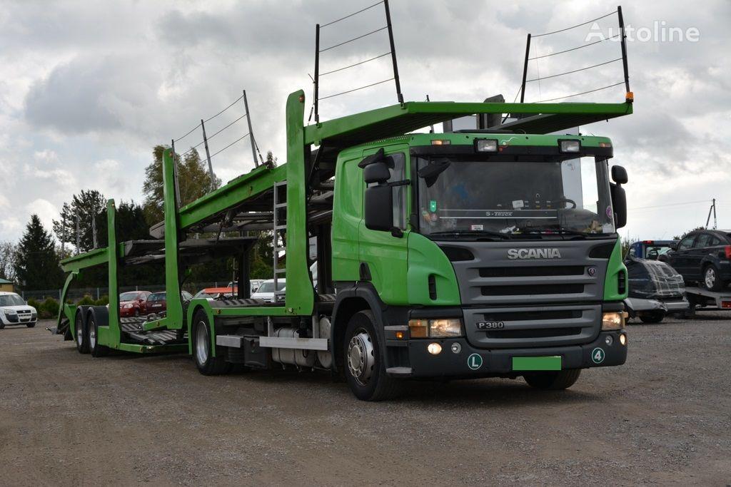 SCANIA P 380 Autotransporter + Autotransportanhänger