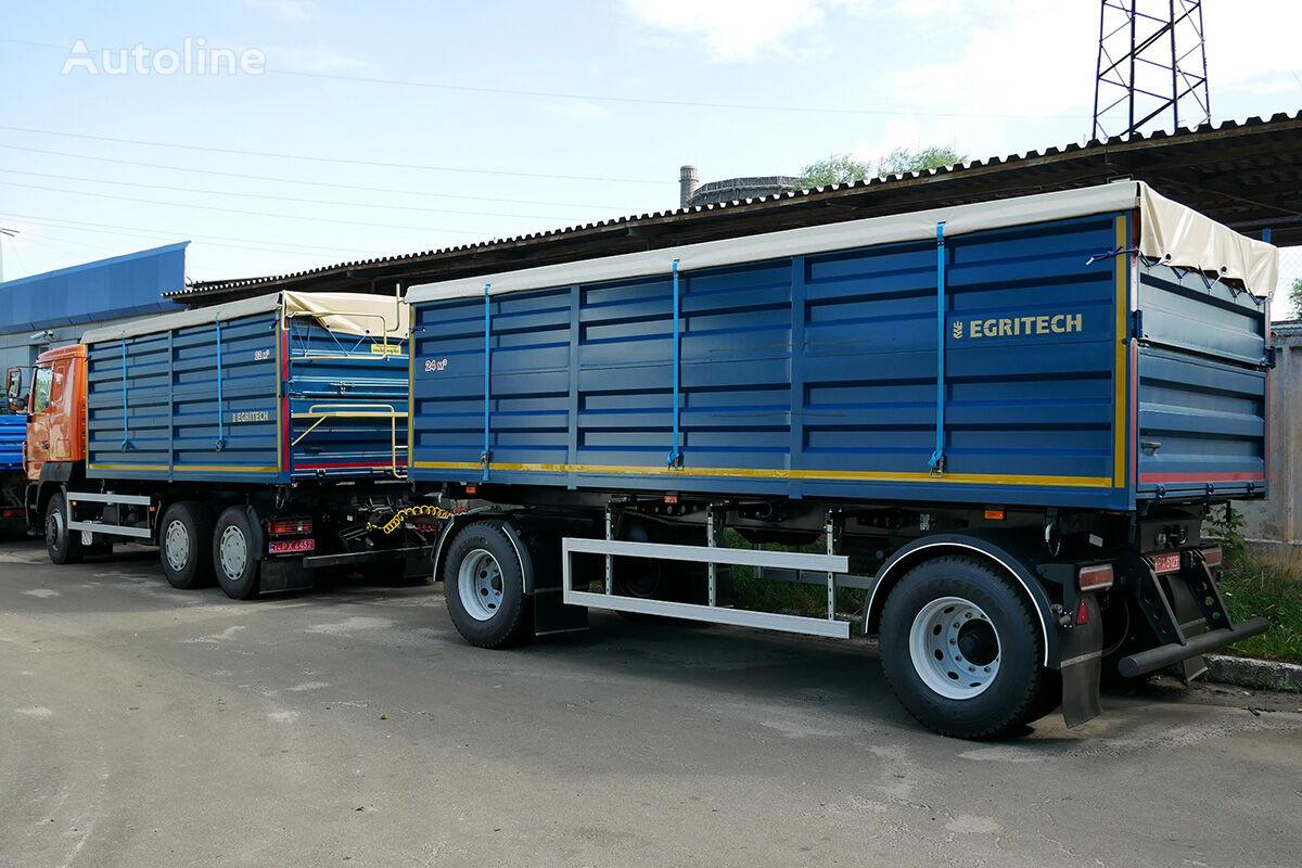 neuer EGRITECH ASPS 1424 na bazi shasi MAZ MAZ-6501S5 Getreidetransporter LKW + Getreidetransporter Anhänger