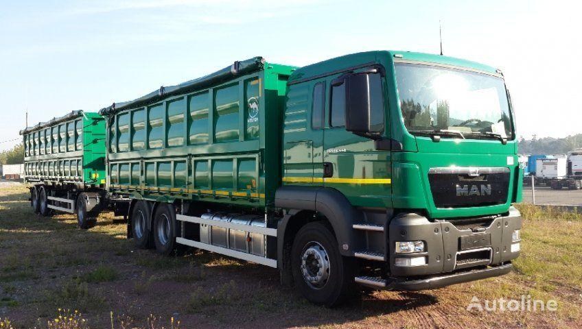 neuer MAN TGS 33.440 Getreidetransporter LKW + Getreidetransporter Anhänger