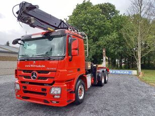 MERCEDES-BENZ Actros 3360 -6x4-hiab crane-steel suspension-alcoa Holztransporter LKW