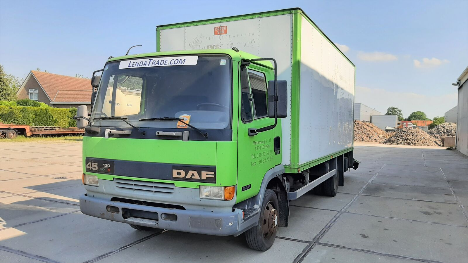 DAF 45.130 Ti 6 Cylinders Euro 2 Spring-Spring Koffer-LKW