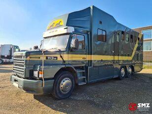 SCANIA 113 paarden/mobilhome Viehtransporter LKW