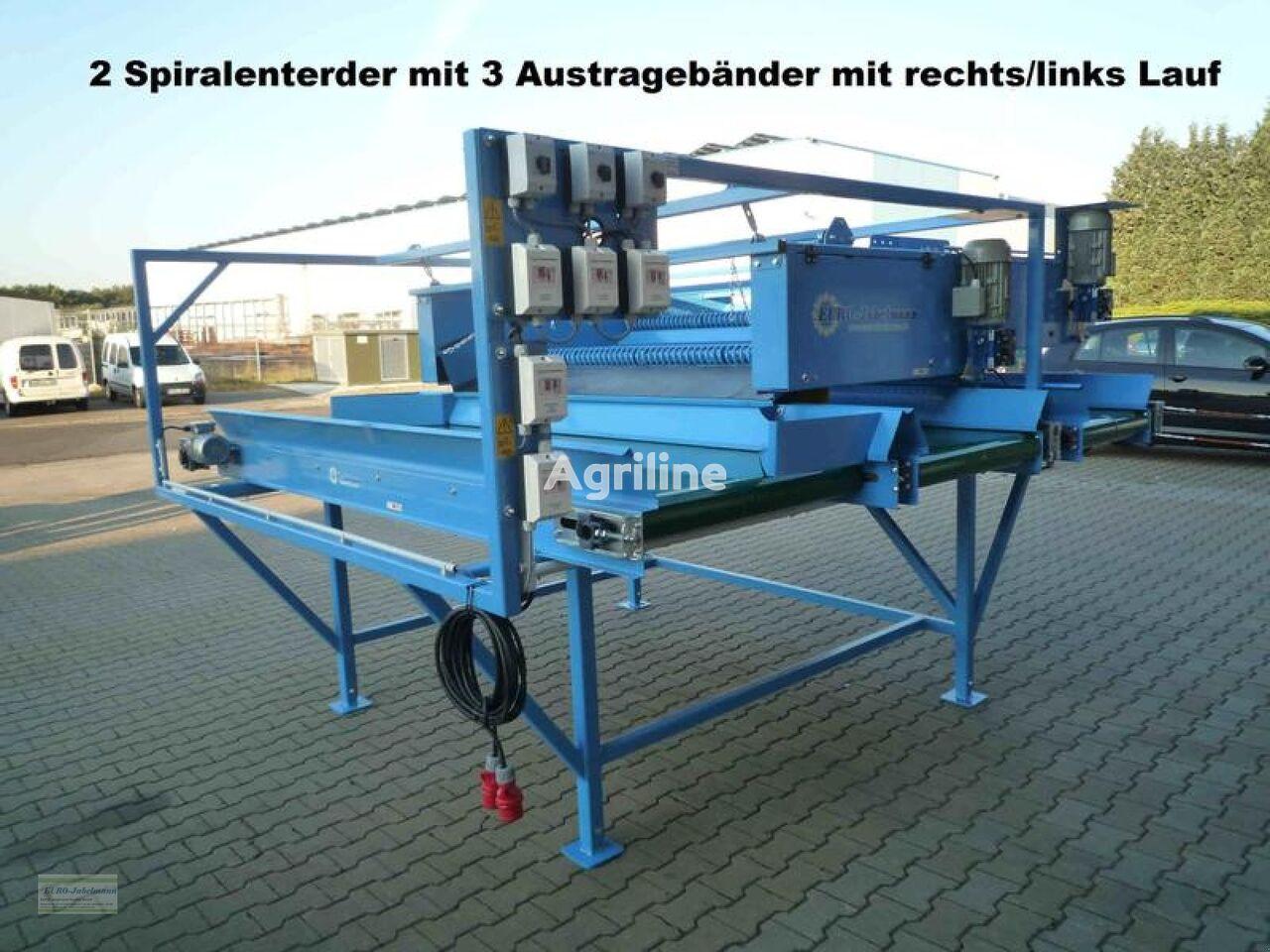 neue EURO-Jabelmann Doppelter Spiralwalzenenterder mit Austragebänder, NEU Gemüsewaschmaschine