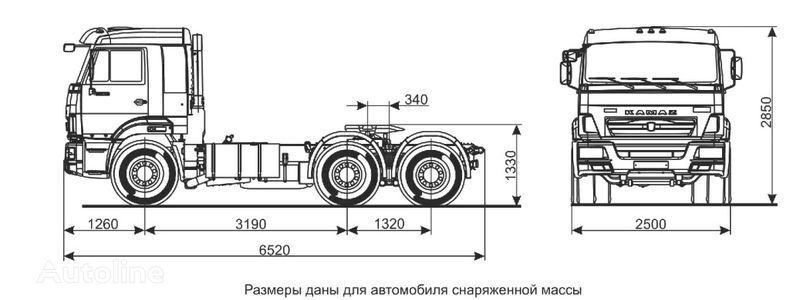 KAMAZ Sedelnyy tyagach KAMAZ-65116 (6h4) Sattelzugmaschine