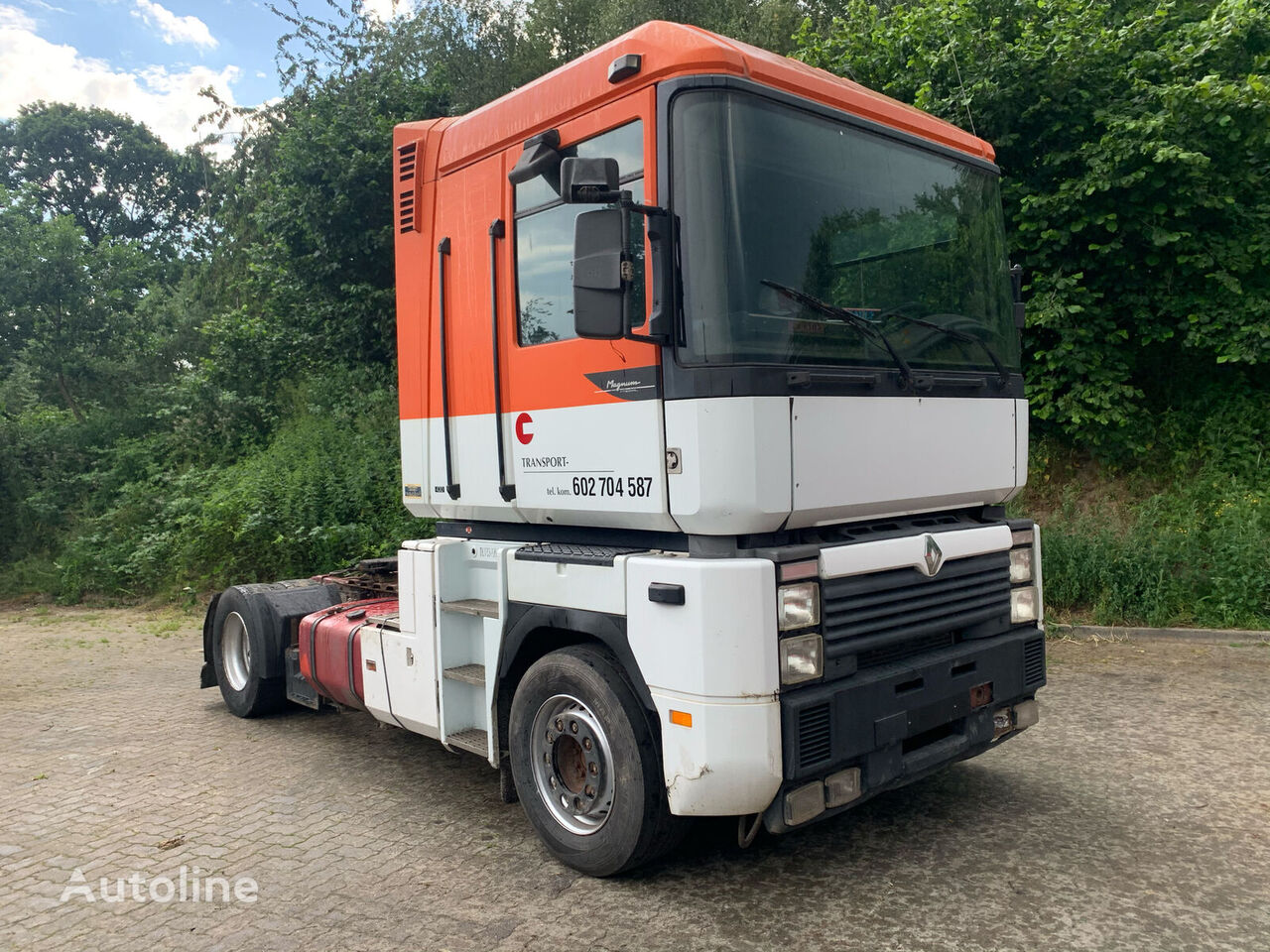 RENAULT Magnum 430 4x2 manual pump manual gear delivered to Hamburg Sattelzugmaschine